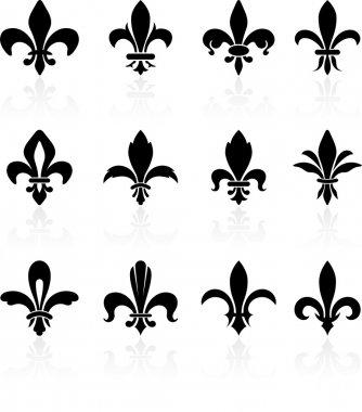 Fleur de lis design collection clip art vector