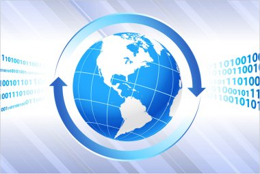 Globe on business background
