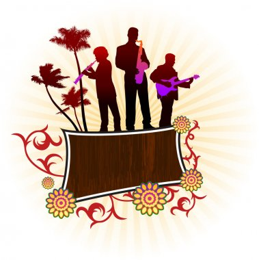 music group on abstract background