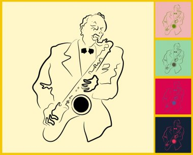 Live Jazz & Blues on post it note