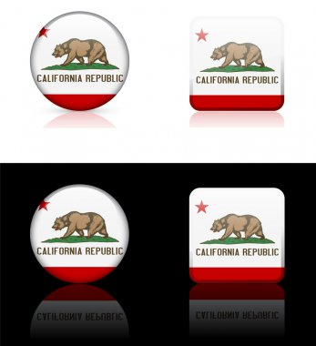 California Icon on Internet Button