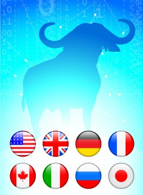 Bull Market with Internet Flag Buttons