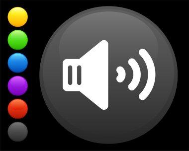 volume icon on round internet button