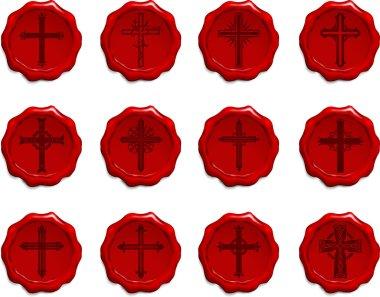Religious Cross Wax Seal Set