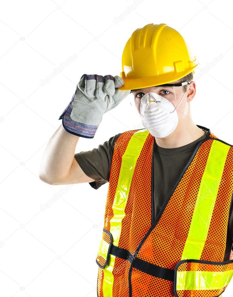 equipo de seguridad usando construcción obrero — Fotos de Stock ...