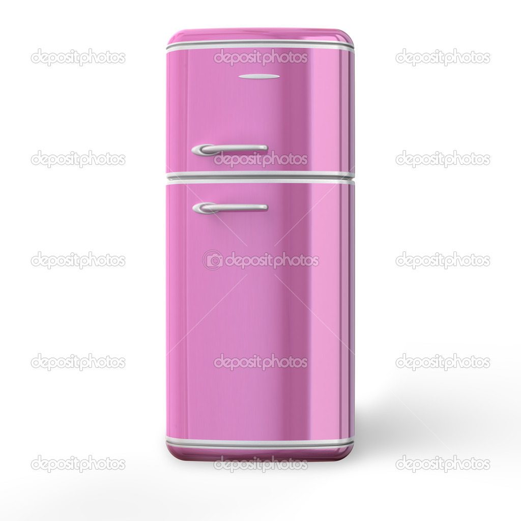 Rosa Retro Kühlschrank — Stockfoto © strejman #5971604