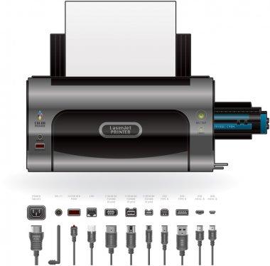 LaserJet Printer, Ports & Cables