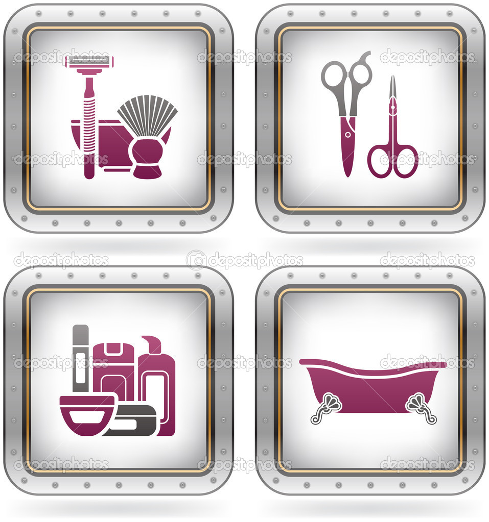 Bath utensils stock vector vectorminator 6725099 for Bathroom utensils