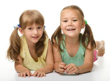 Two little girls - best friends