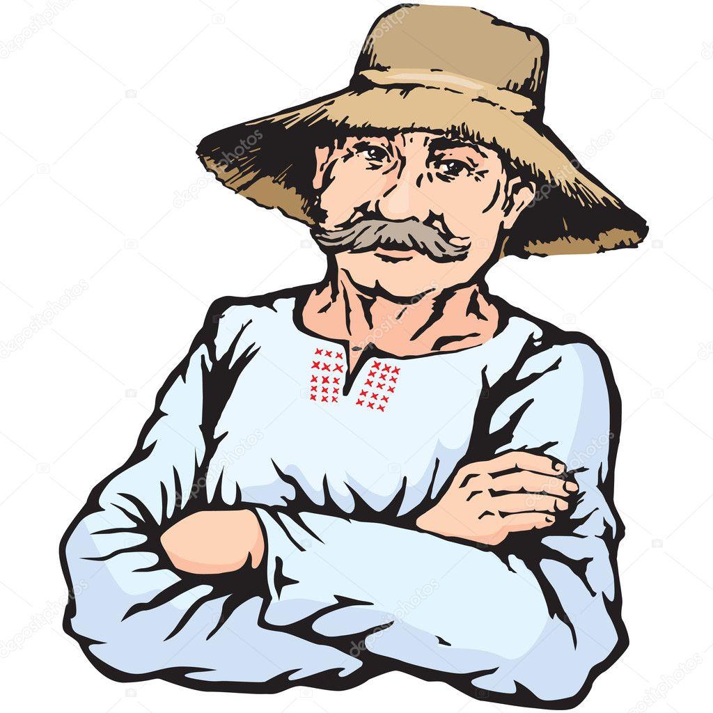 В соломенной шляпе мастурбирует