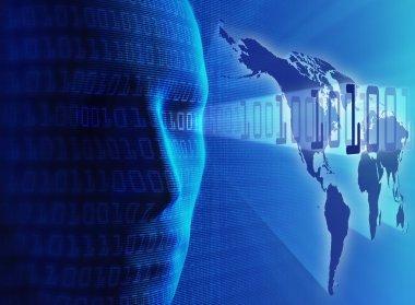 Global communication /internet / data transmission or cyber-busi