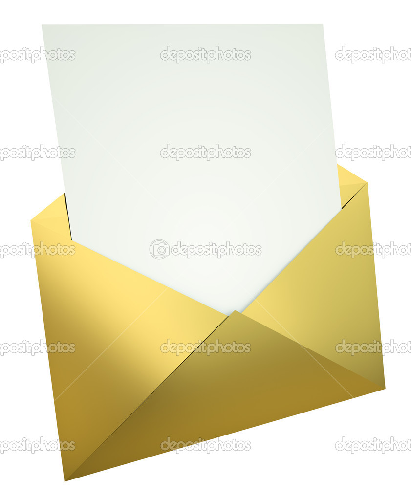 letter in gold envelope stock photo c bayberry 5560261 With gold letter envelopes