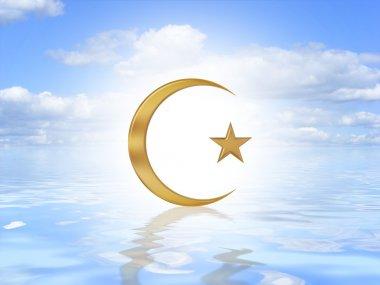 Islam Symbol on water