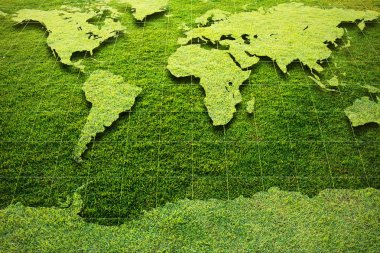 Green Grass World map