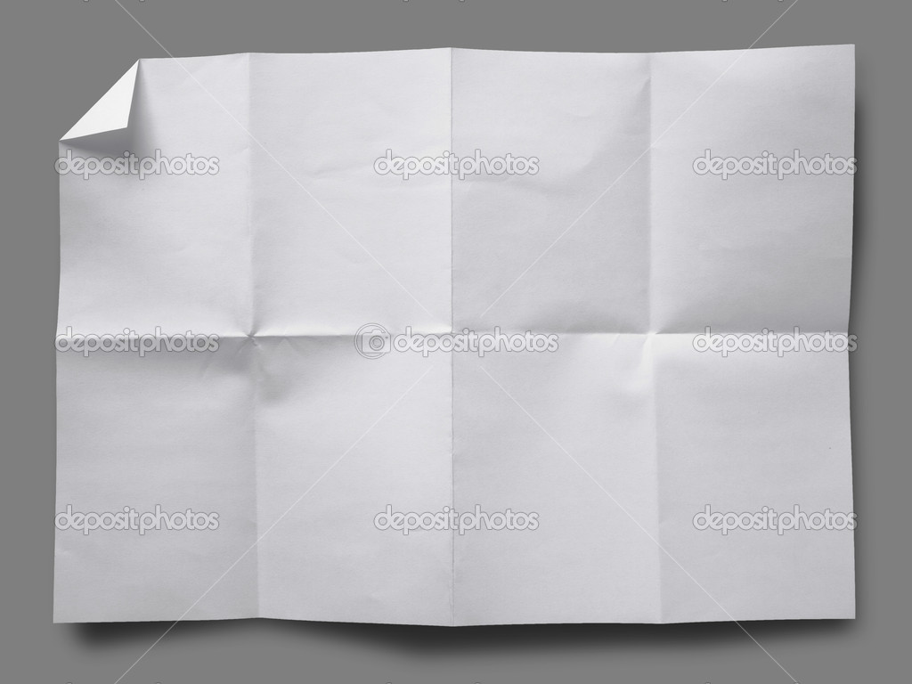 Full page of White paper folded