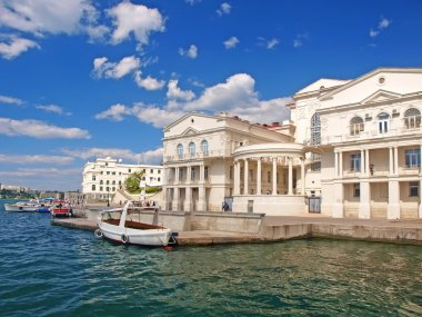 Sevastopol harbor. The central quay