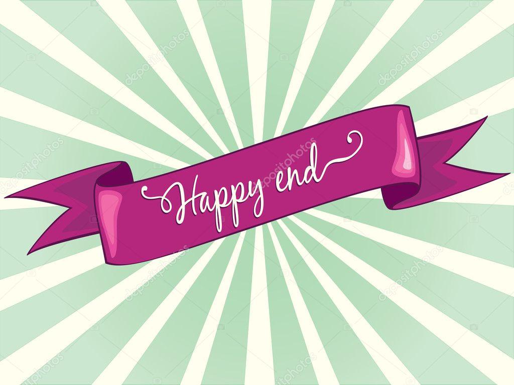 Happy end — Stock Vector © studio #6483577