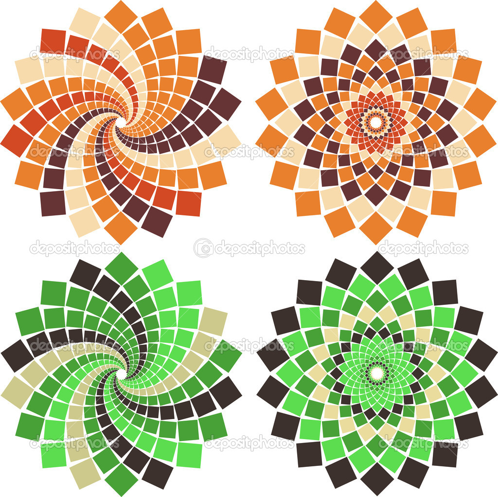 vector mosaic flower stock vector c bambuh 6013550 https depositphotos com 6013550 stock illustration vector mosaic flower html