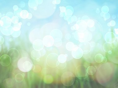Spring background with brokeh effect background stock vector