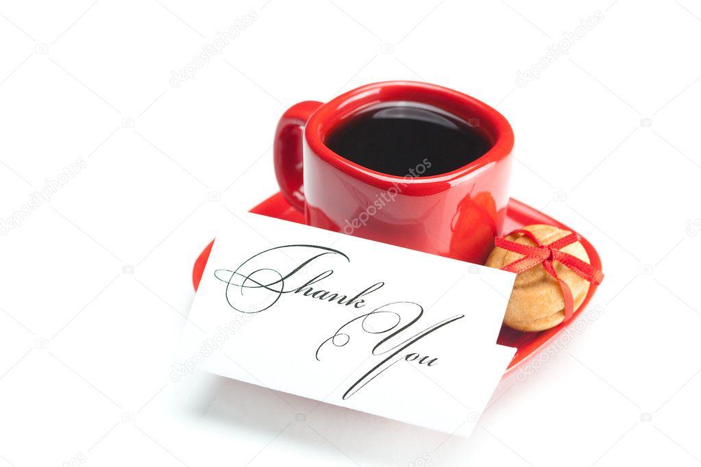 Открытки спасибо кофе