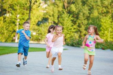Preschoolers running
