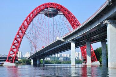 The bridge through the Moskva River. Moscow.
