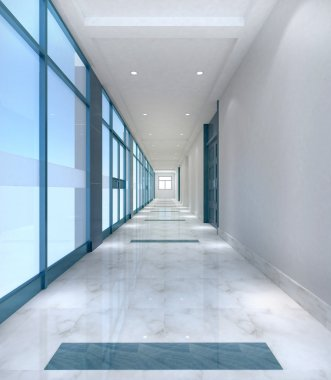 Simple office corridor