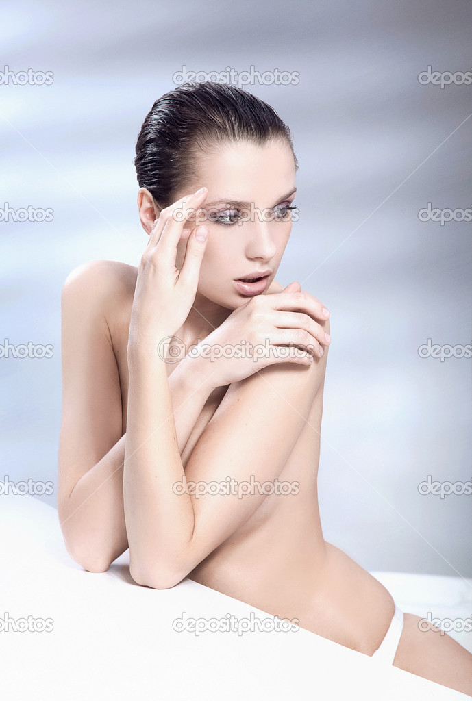 Beautiful young lady in a spa