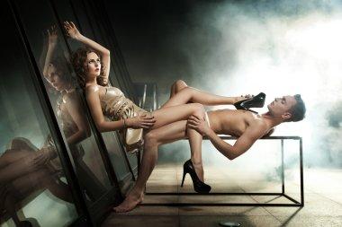 Amazing photo of sexy couple posing
