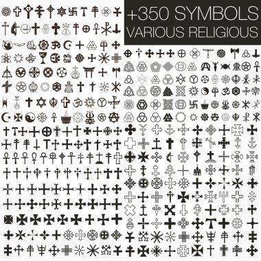 . various religious symbols stock vector