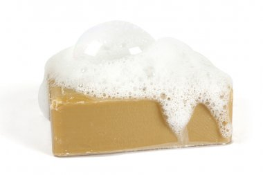 Organic soap on white