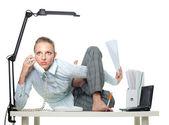 Fotografie Flexible woman in office