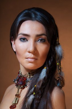 Portrait of American Indian woman