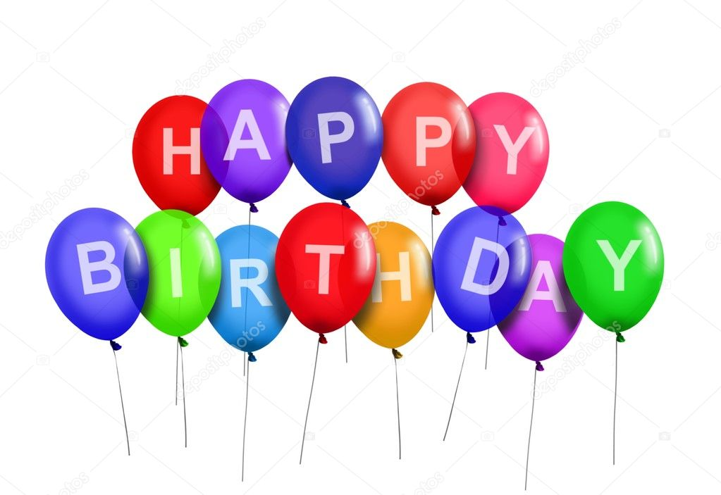 Happy Birthday Party Balloons Stock Photo razihusin 6250767