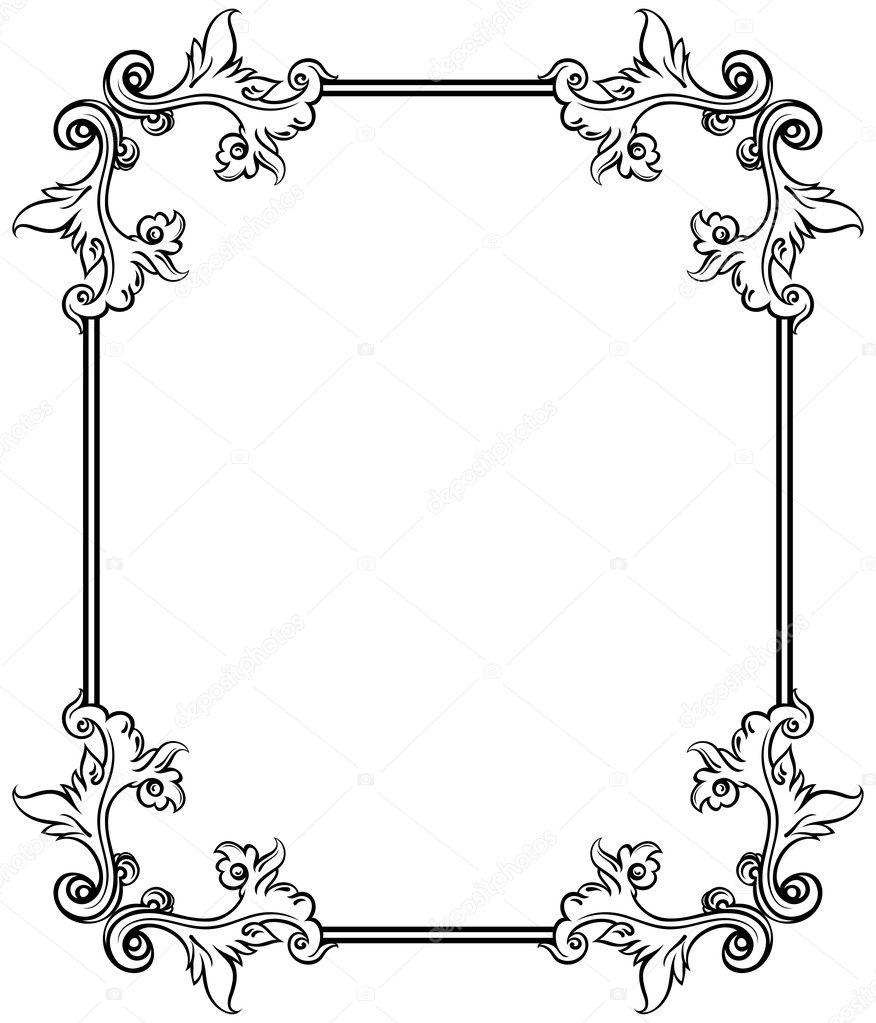 Simple decorative frame — Stock Vector © kjolak #5966047