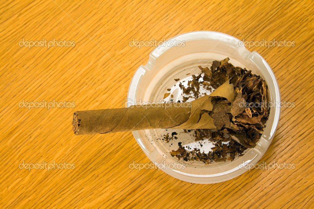 Cigar in an ashtray