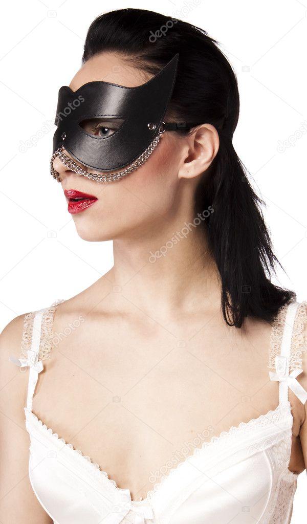 Фото в корсете и в маске #7