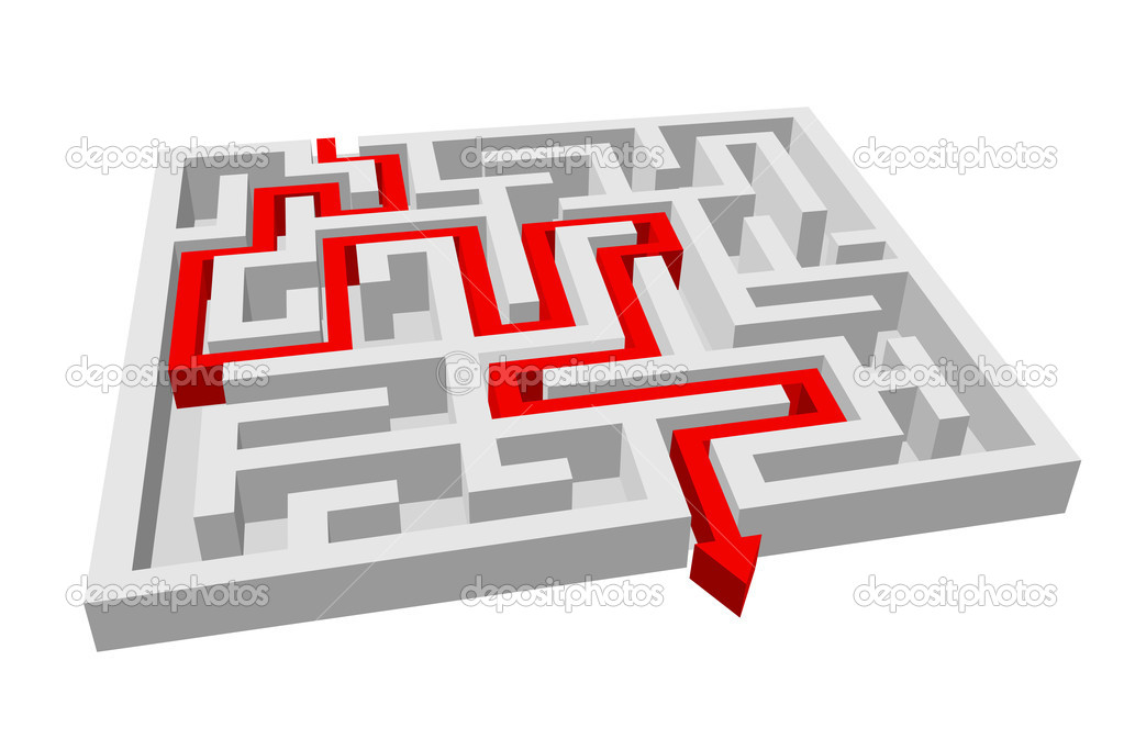 Stock Illustration Labyrinth Maze Puzzle on File Maze Type Standard