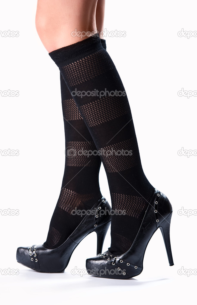 Beautiful female legs and high heels