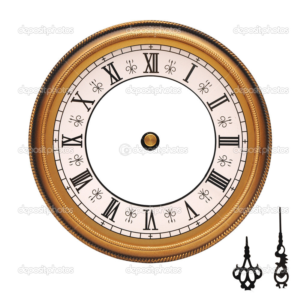 vintage wall clock isolated on white background u2014 stock photo