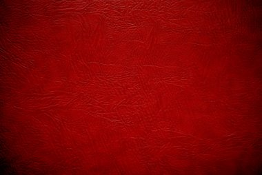 Closeup red leather background