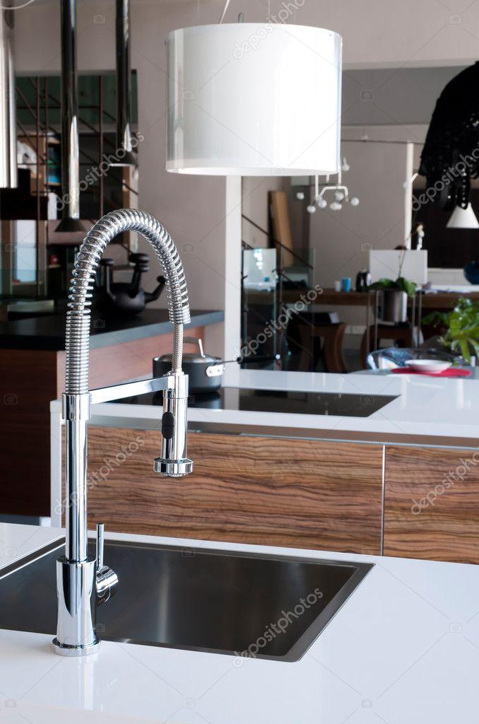grifo de cocina de acero inoxidable — Fotos de Stock © KirillM #6018270