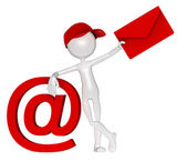 Fotografie Postman mit Umschlag und e-mail