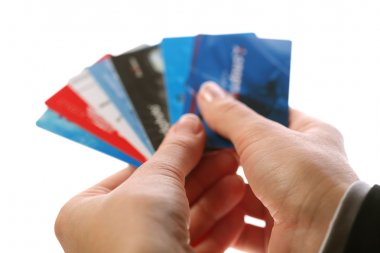 Cards in woman hands