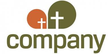 Religion logo with cross symbol