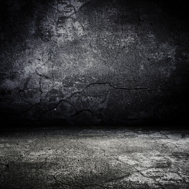 Old grunge scary room with concrete texture stock vector