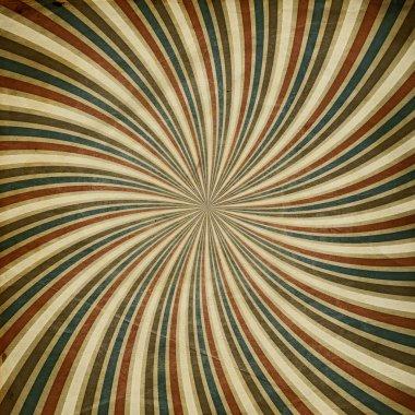 Vintage sunburst image background, square composition