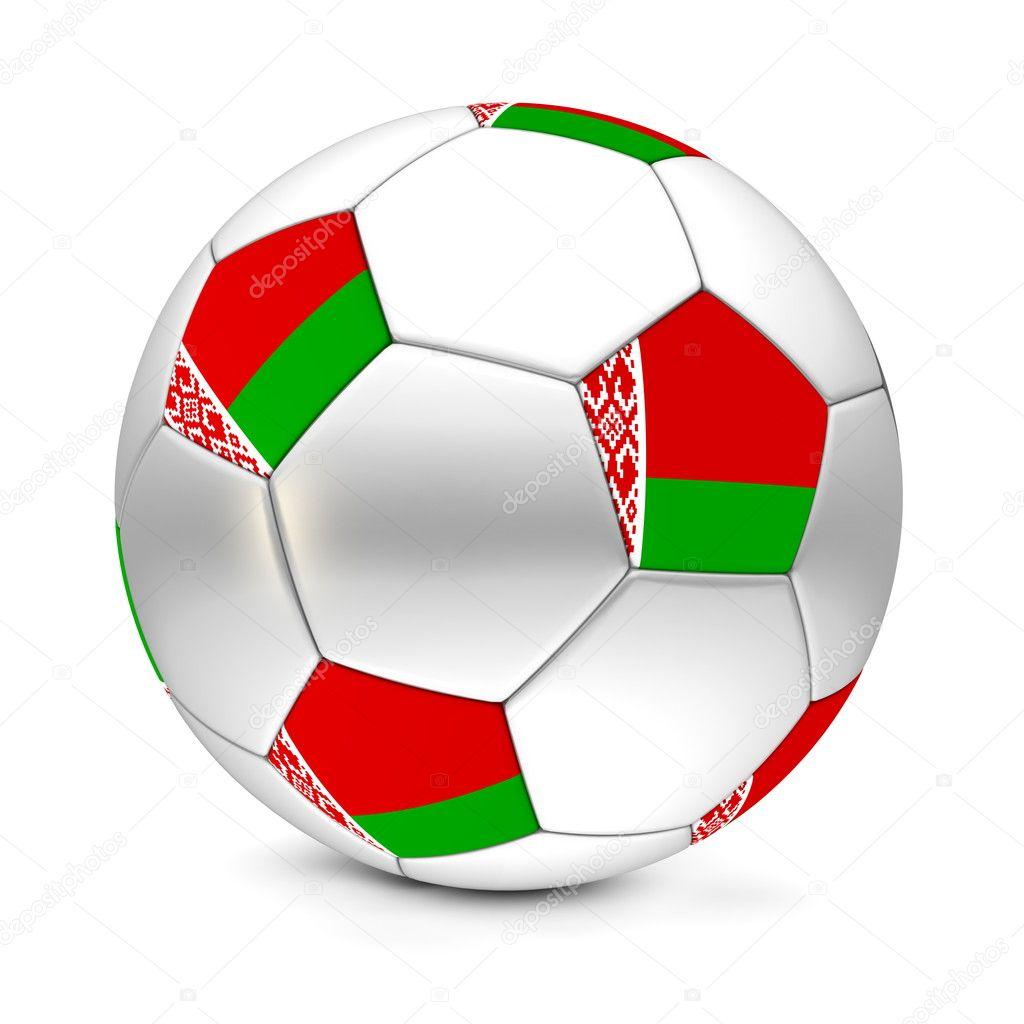 Блискучі футбол футбольний м яч з прапор Білорусі на п ятикутників — Фото  від PixBox. Знайти схожі зображення 537d107a7cbde