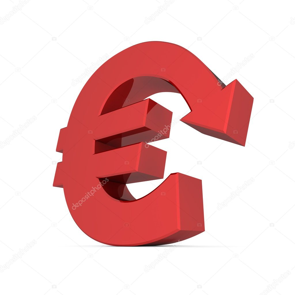 Euro symbol font image collections symbol and sign ideas shiny euro symbol with arrow down glossy red stock photo shiny euro symbol with arrow down buycottarizona