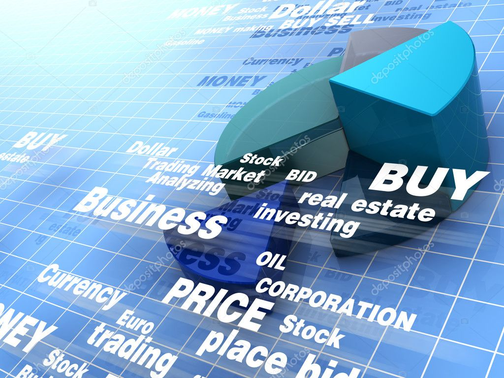 Abstract 3d illustration of business background